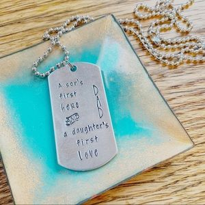 Other - 🆕 A Daughter's First Love Handstamped Necklace